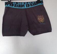 ED HARDY KIDS BOXER 100% COTON TAILLE 12 ANS (L ENFANT) COLORIS GRIS 406