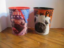 Official Doug the Pug Cups- Patriotic & Halloween Plastic 16 oz. Cups