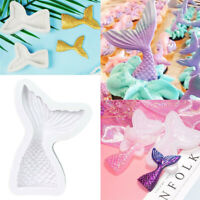 3D Mermaid Tail Silicone Mould Mold Fondant Cake Sugar Chocolate Toppers Decors