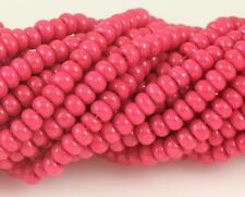 "Czech Glass Seed Beads Size 6/0 "" TERRA INTENSIVE DARK PINK "" Strands"