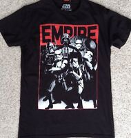Mens (Adult Sm) STAR WARS EMPIRE T-SHIRT Black/Red Darth Vader StormTrooper NEW