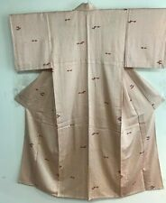 Vintage White Color Kimono  Decorated with Fans #1244