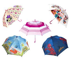 Kids Umbrella Licensed Minnie Mouse Super Wings Spiderman Boys Girls School Pack
