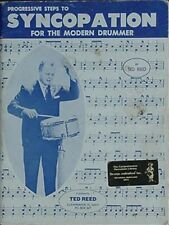PROGRESSIVE STEPS TO SYNCOPATION FOR THE DRUMMER, 1986 BOOK (TED REED