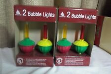Bubble Lights Replacement Bulbs Set Of 4 With C7 Base holiday