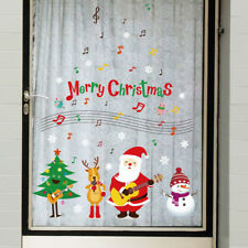 music guitar christmas santa wall sticker decal removable art windowWallDecorEP
