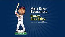 MATT KEMP Bobblehead Braves SunTrust Park SGA Atlanta 2017