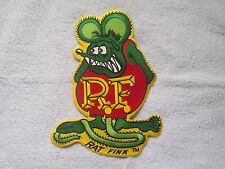 "LARGE OFFICIALLY LICENSED ED ""BIG DADDY"" ROTH RAT FINK HOT ROD BACK PATCH COLOR"