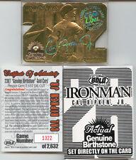 The Greatest CAL RIPKEN JR. 23K GOLD Card WITH GENUINE BIRTHSTONE ! RARE LAST 6