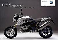 BMW HP2 Megamoto Prospekt 2006 10/06 brochure prospectus Motorradprospekt moto