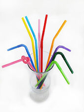 """100 Pcs. Flexible Party Drinking Straws 10 3/4"""" Assorted Color"""