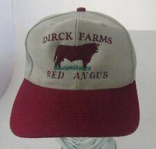 Dirck Farms Red Angus Cow Beef Farming Trucker Hat Cap Advertising A14
