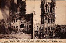 CPA Militaire, Halles d'Ypres pendant l'incendie du 22 novembre 1914 (278315)