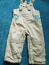 6-9 months boy corduroy winter dungarees mini club