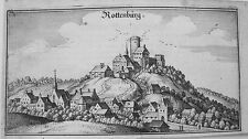 Rottenburg an der Laaber  Bayern Merian Kupferstich der Erstausgabe 1644