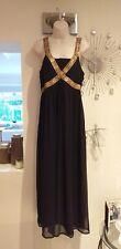 Sky Designs Maxi Dress UK Size 14 Maxi Long Black Sequins