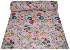 Vintage Kantha Quilt Blanket Bedspread Throw Handmade Bedding Throw Double/Twin