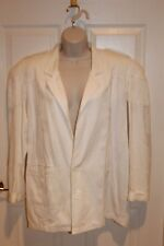 FREEGO COOL COTTON White Jacquard Fringe Epaulets Jacket Sz M