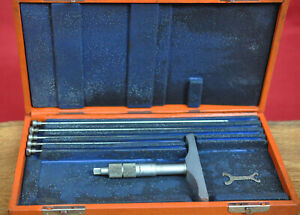 """Brown & Sharpe 0-6"""" Depth Micrometer .001 No. 608 Complete with Case NO RESERVE!"""