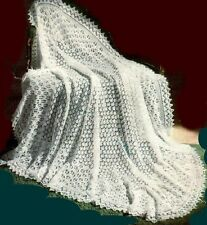 "Baby's Lace Shawl Knitting Pattern Gorgeous ""Mountain Maid""  3ply  854"
