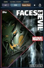 Topps Marvel Collect Faces Of Evil Ultron FOE Motion 333cc - Digital Card