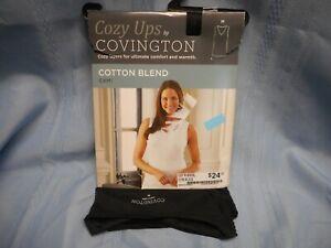 COZY UPS COVINGTON WOMEN'S COTTON BLEND CAMI V NECK TOP SHIRT SIZE M BLACK