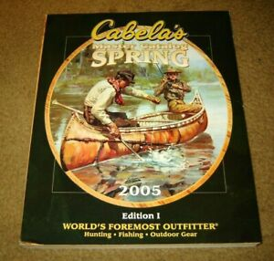 (2) Cabela's CATALOG - LOT of 2 diff. from 2005 -- guns, ammo, hunting, rifles
