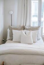 Pottery Barn Luxurious Egyptian Cotton White Duvet cover King +2 King Shams New