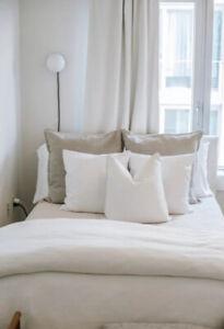 Pottery Barn Egyptian Cotton White Duvet cover Full/Queen +2 Shams NEW