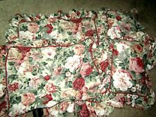 "Pair of Croscill Home Fashions Floral Pillow Shams & 14"" x 10"" Pillows Ruffled"