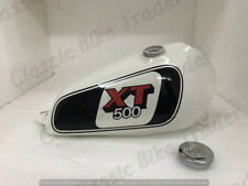 YAMAHA XT TT 500 WHITE  AND BLACK PAINTED STEEL  PETROL TANK 1980