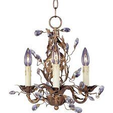 Maxim Lighting Elegante 3-Light Chandelier Etruscan Gold - 2855EG