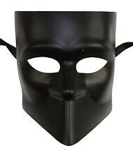 Men's Black Bauta Masquerade Full Face Warrior Gladiator One Size Venetian NEW