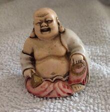 Antico piccolo Buddha in ceramica-Firmato
