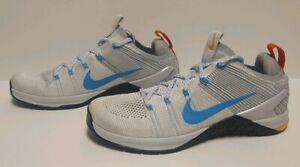 Men's Nike Metcon DSX Flyknit 2 White/Blue/Pure Platinum 924423-140 Size 10 RARE