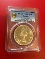 1964 Canada Confederation Silver Dollar PCGS PL66 with Cameo