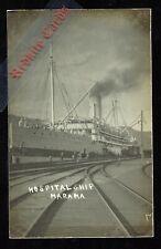 New Zealand Hospital Ship Marama in Dock (RP WW1)