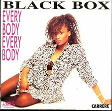 BLACK BOX - EVERYBODY EVERYBODY - FRENCH CARDBOARD SLEEVE CD MAXI 1990 /  RARE +