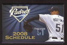 Trevor Hoffman--2008 San Diego Padres Schedule--Kragen Auto Parts