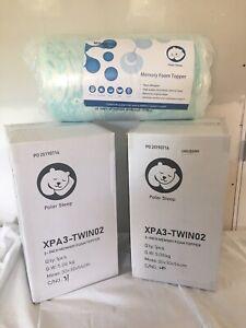 New in box Polar sleep 3 Inch Gel Memory Foam Mattress Topper-Twin Size