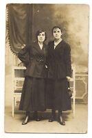 photo carte postale ,non identifiée, 2 jeunes femmes