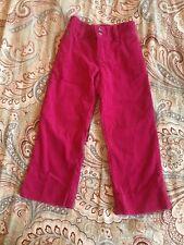 Girls Ralph Lauren Pants Polo Pink Corduroy Pants Size 4 Green Pony