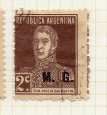 Argentina 1923 Early Official MG Optd Issue Fine Used 2c. 188382