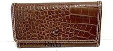 Tommy  Hilfiger Brown Crocodile Bifold Women's Leather Wallet