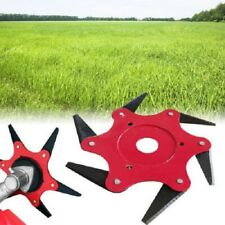 6 Steel Blades Razors 65Mn Lawn Mower Grass Eater Trimmer Head Brush Cutter Tool