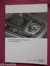 AUDI MMI NAVIGATION SAT NAV / AUDIO / PHONE HANDBOOK A4 A5 A6 S6 Q5 Q7 CJL 100+