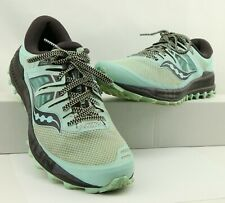 Saucony WOMEN'S Green Peregrine ISO Running Trail Sneakers Size 10 US