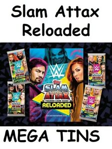 WWE Slam Attax Reloaded **New Stock** Mega Tin 4 versions Money in the bank Tins