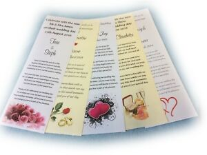 150 Personalised Wedding Favour Scrolls, WITHOUT Organza Ribbon WPNR150