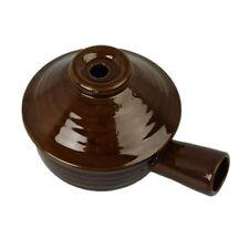 Ollas y cacerolas de cocina de cerámica color principal marrón